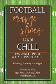 Football, Orange Slices + Chill Party