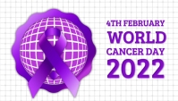 World cancer day,cancer awareness,4th february Blog-Kopfzeile template