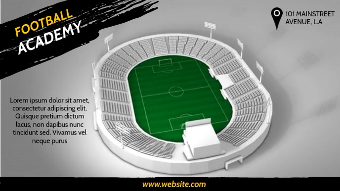 FOOTBALL ACADEMY VIDEO AD Pantalla Digital (16:9) template