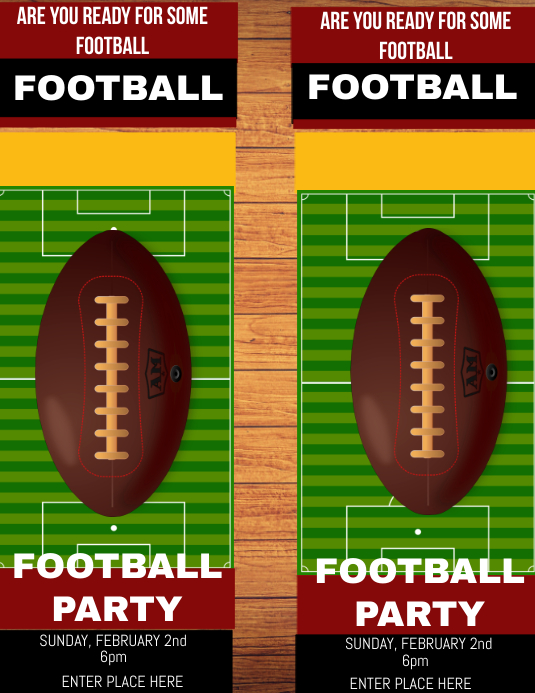 football admission ticket template