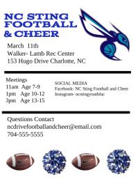Football and Cheerleading Iflaya (Incwadi ye-US) template