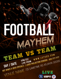 Football Bar flyer
