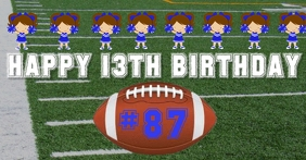 Football Birthday Shout Out