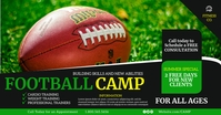 Football camp Facebook Shared Image template