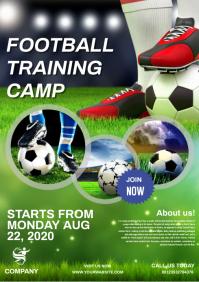 FOOTBALL CAMP A4 template