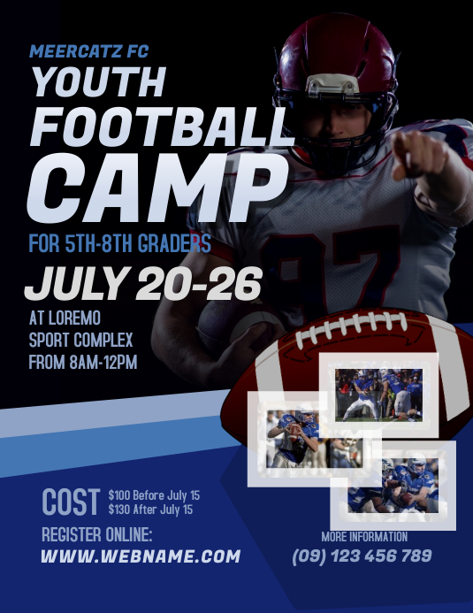 Football Camp Flyer