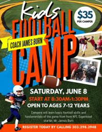 Kids Football Camp Flyer