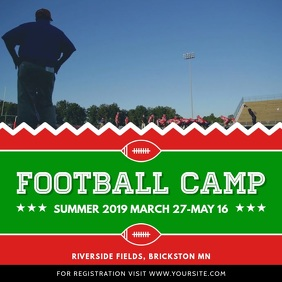 Football Camp Promotion Square Video