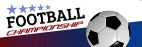 Football Championship Bannier 2' × 6' template