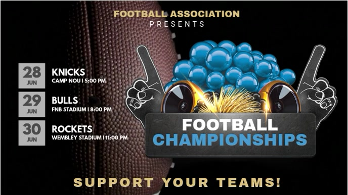 Football Championships Schedule Template
