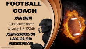 Customizable design templates for football coach business card football coach business card colourmoves