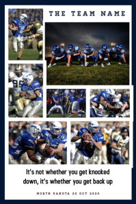 Football Collage Poster template