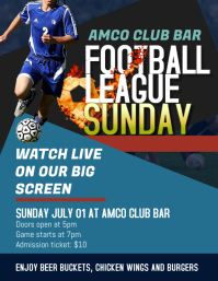 Football Cup Viewing Party Flyer Template