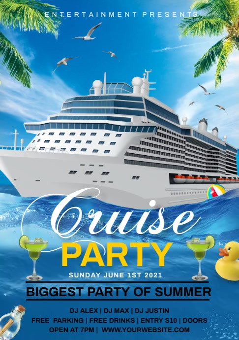 Cruise party A4 template