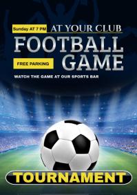 football A4 template