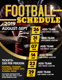 Football Flyer (US Letter) template