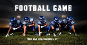 Football event Facebook Shared Image template