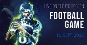 Football event Portada de evento de Facebook template