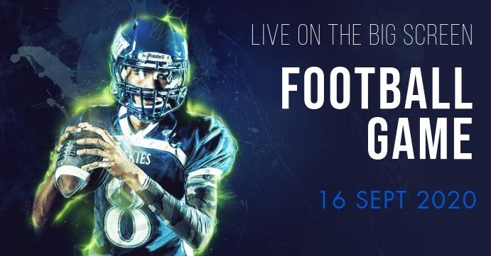 Football event Portada de evento de Facebook template