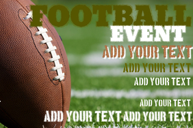 FOOTBALL EVENT FLYER POSTER SCHEDULE