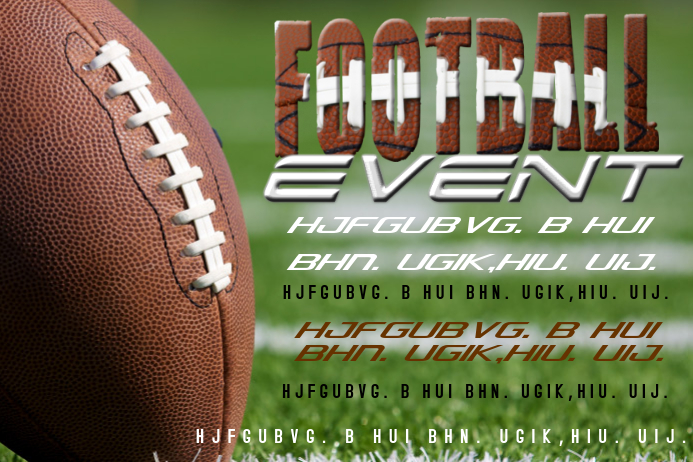 FOOTBALL EVENT FLYER POSTER