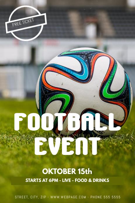 football event flyer template