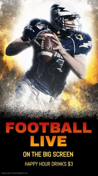 Football event - no logo Pantalla Digital (9:16) template