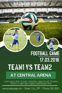 football soccer event flyer template