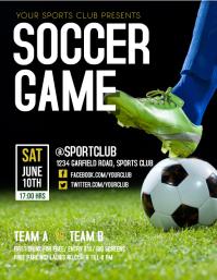 Football Flyer, Soccer Flyer, schedules