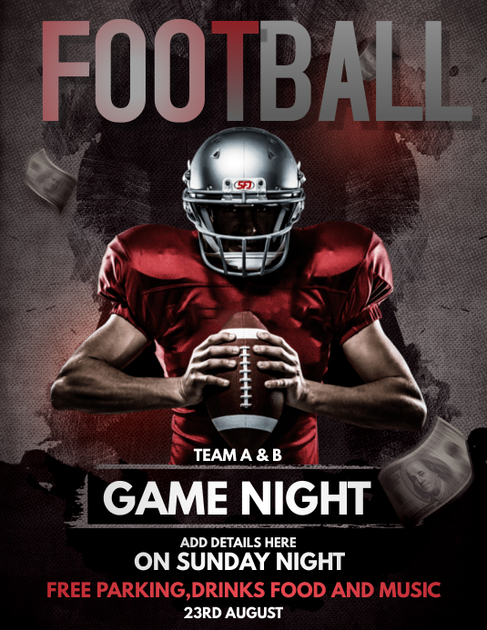football flyer ,gaming flyers,gaming flyers Løbeseddel (US Letter) template