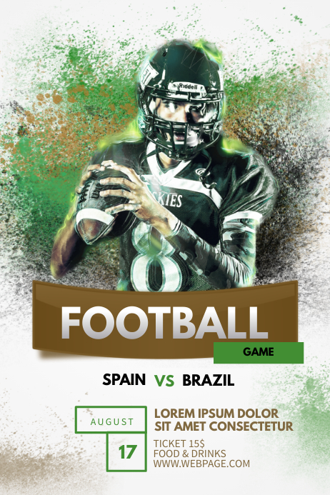 football flyer template postermywall