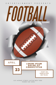 Football Flyer Template Poster