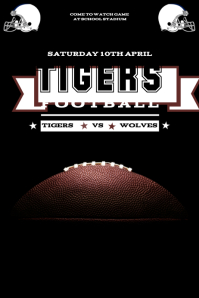 Customizable Design Templates for Football Game Flyer   PosterMyWall