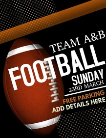 football flyer video,event flyer video