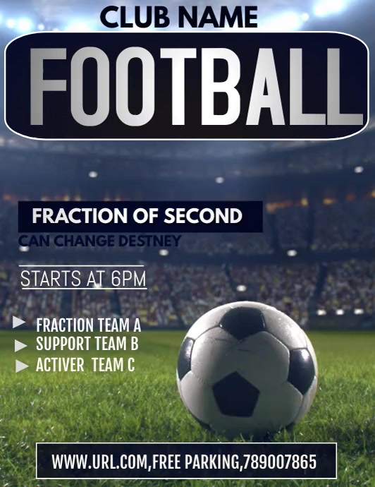Football flyers,soccer flyers,event flyers