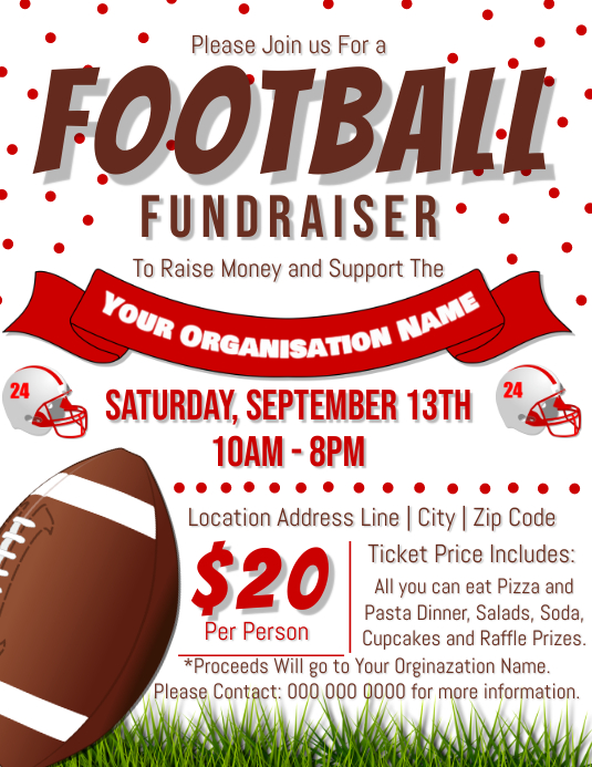football fundraiser flyer template