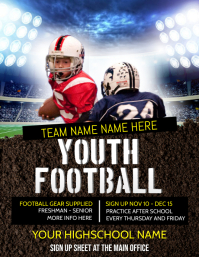 FOOTBALL GAME Flyer (US Letter) template