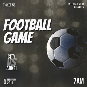 Football game event instagram post template