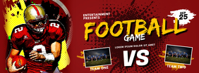 football game facebook cover template