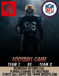 FOOTBALL GAME FLYER AD DIGITAL