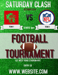 FOOTBALL GAME FLYER AD FLYER TEMPLATE