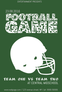 football game poster template