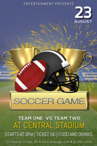 football game poster flyer template