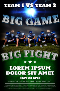 FOOTBALL GAME POSTER