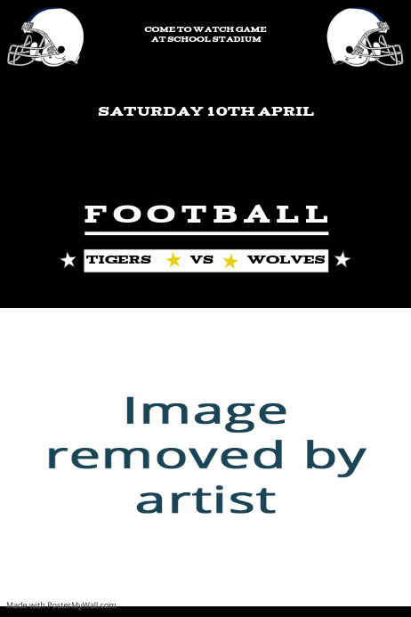 football game template postermywall