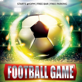 FOOTBALL GAME SOCCER FLYER TEMPLATE