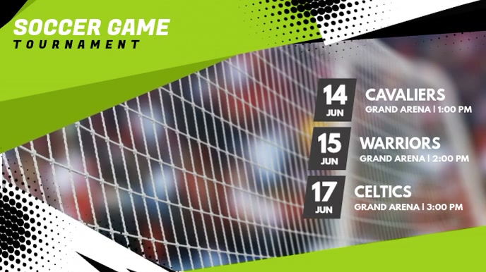 Football Game Tournament Digital Display Video