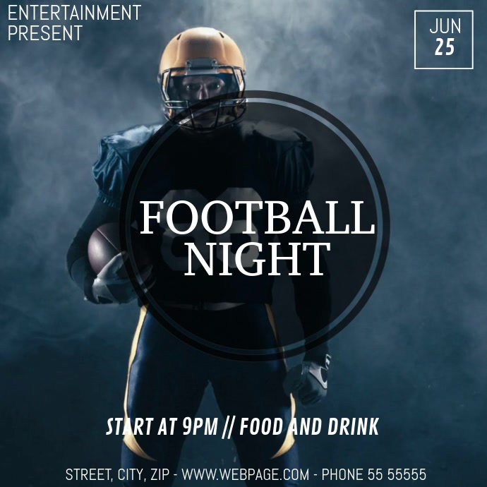 Football game video flyer template