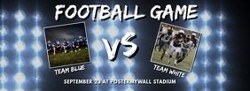 football game video template falcebook cover