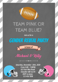 Football gender reveal card